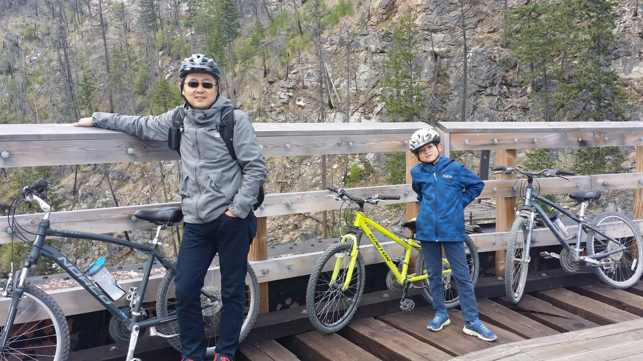 mountain bike with my son @ Kelowna
